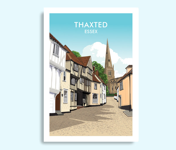 Thaxted Essex travel print
