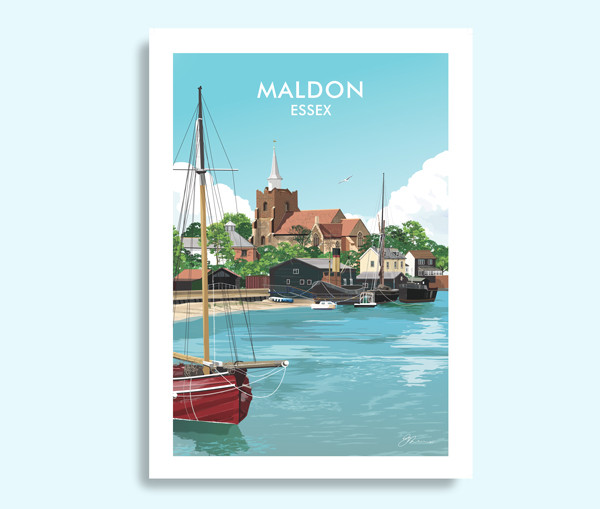 Maldon Essex travel print