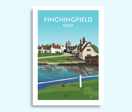 Finchingfield Essex travel print