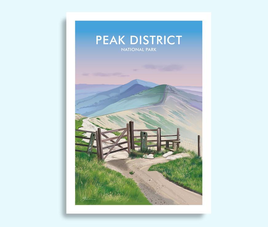 Peak District travel print
