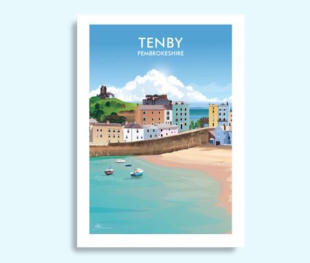 Tenby Pembrokeshire travel print