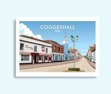 Coggeshall Essex travel print