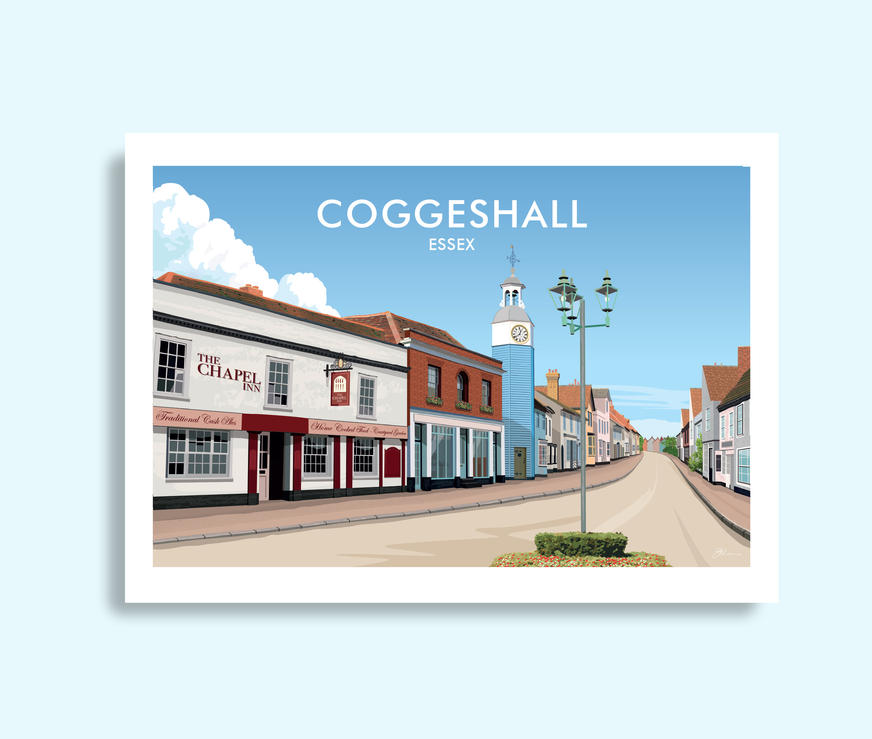 Coggeshall Essex travel print