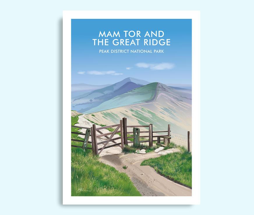 Mam Tor and the Great Ridge travel print