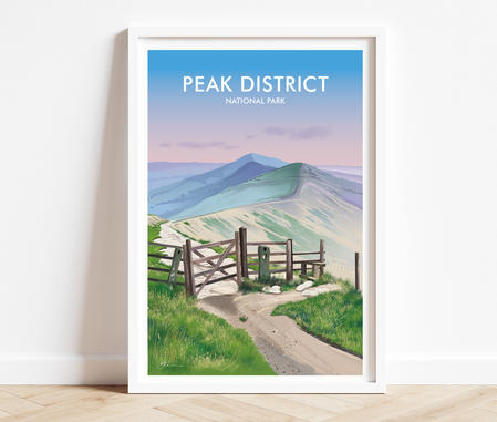 Peak District prints, Mam Tor and Great Divide, Peak District National Park print posters