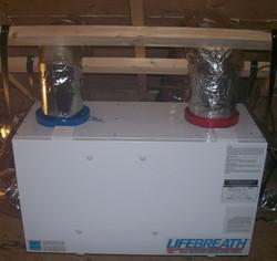 LifeBreath ventilation system installation