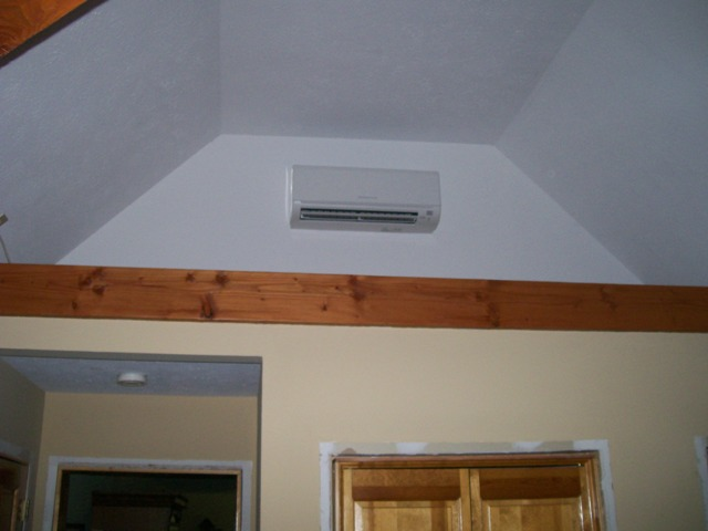 Mitsubishi ductless heat pump, indoor unit