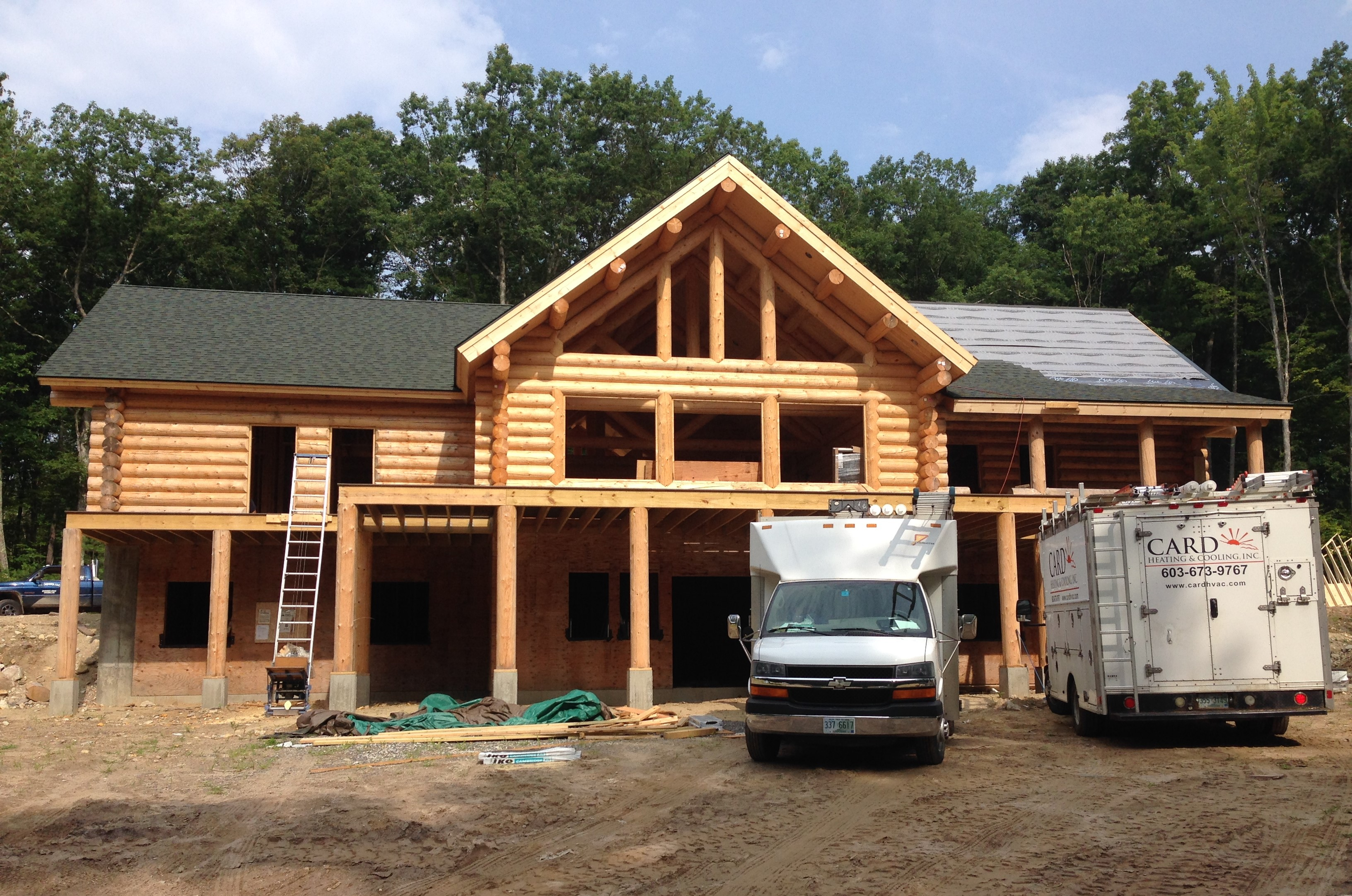 Brookline log home, new construction
