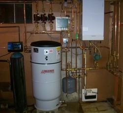High efficiency gas boiler installation, Amherst NH