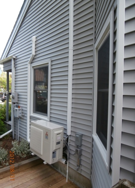 Mitsuibishi ductless heat pump install NH