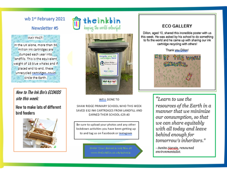 THE INK BIN'S NEWSLETTER IS NOW AVAILABLE- THIS WEEK WE FOCUS ON THE RSPB BIRDWATCH