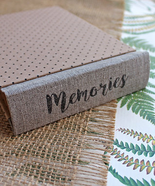 small Tiny dotted and linen ECO photo album - MADE-TO-ORDER