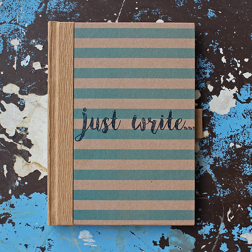 XL 'Just write' ECO ruled notebook