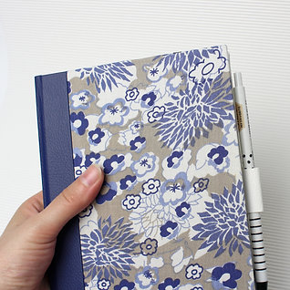 XL refillable notebook - upcycled cloth cover - UNIQUE PIECE