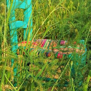 Chaise paillée en couleur