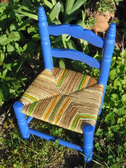 "Petite chaise en ""Bleu Maroc"""