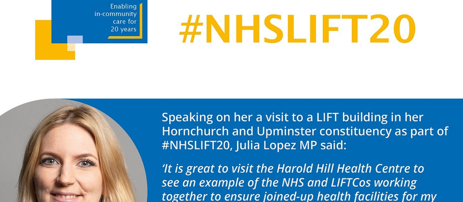Cabinet Office Minister visits Harold Hill Health Centre  #NHSLIFT20