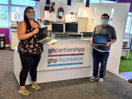 Laptops donated to help underprivileged children impacted by Covid-19 in Birmingham