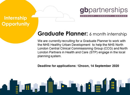Internship Opportunity: Graduate Planner