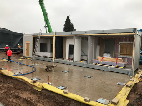 UK's greenest healthcare building on site in just 10 days