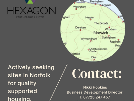 **Actively seeking sites in Norfolk for quality supported housing**