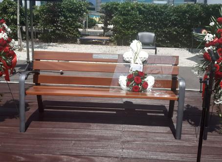 Donation of memorial bench in honour of Finchley Memorial Hospital Nurse, Agathar Bhebe.