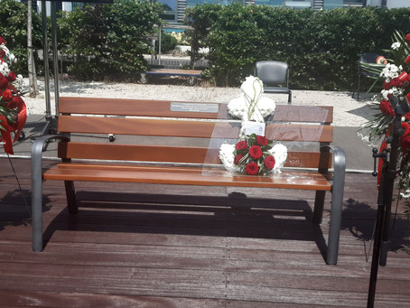 Donation of memorial bench in honour of Finchley Memorial Hospital Nurse, Agathar Bhebe.