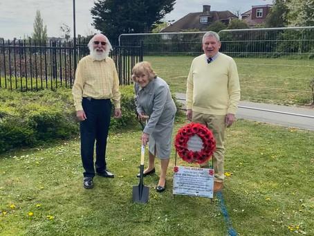 Barnet War Memorial Association break ground in readiness for new War Memorial