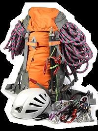 Loaded Hiking Backpack