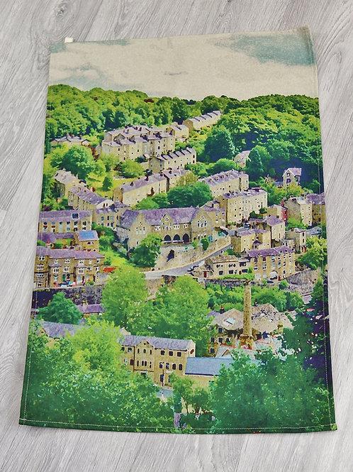 Tea Towel, Birchcliffe Painting, Hebden Bridge