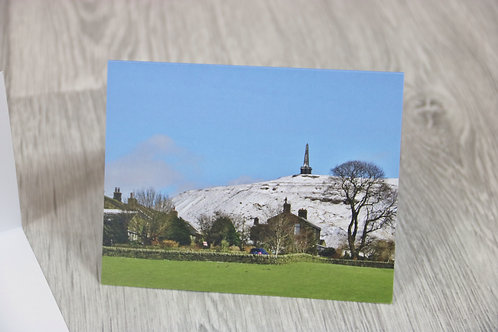 Snowy Stoodley Christmas Postcard & Envelope