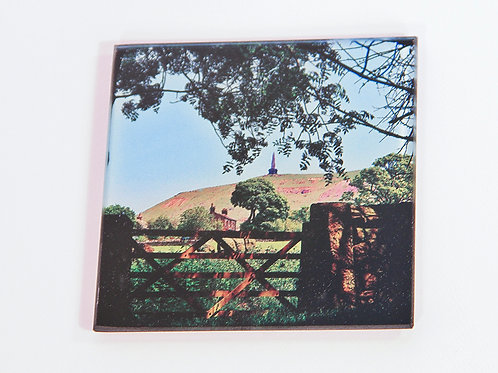 Glass Coaster,  Todmorden, Stoodley Gate Colour