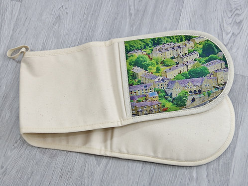 Double Oven Glove, Birchcliffe Painting, Hebden Bridge