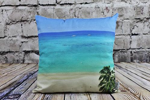 Cayman Cushion - Watercolours