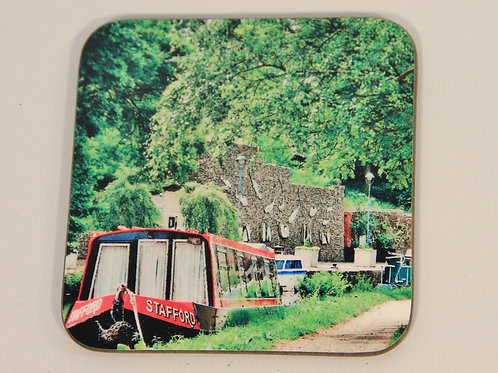 Wooden Coaster, Todmorden, Canal Scene