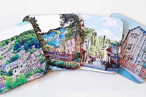 Wooden Coaster set, Hebden Bridge