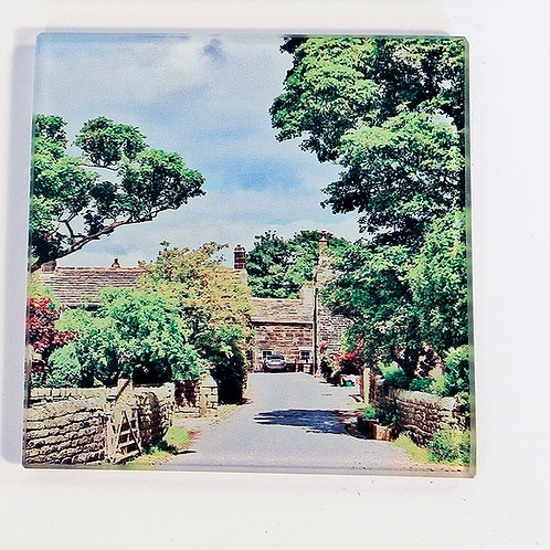 Glass Coaster,  Todmorden, Mankinholes Village