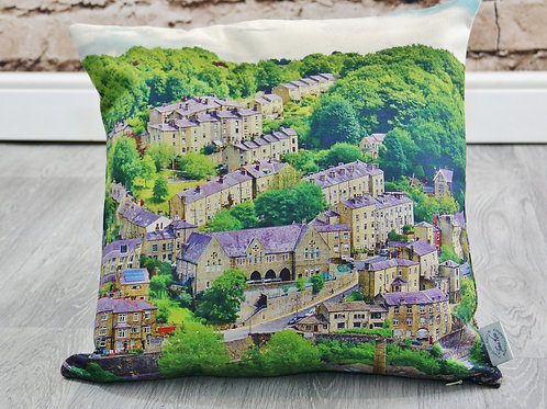 Birchcliffe, Hebden Bridge - Printed cushion