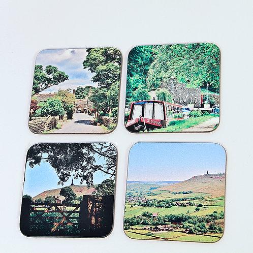 Wooden Coaster set, Todmorden
