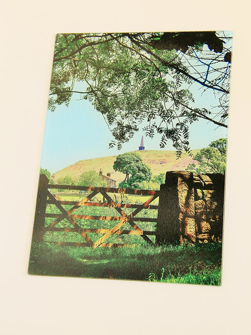Glass Chopping Board - Todmorden, Stoodley Gate Colour