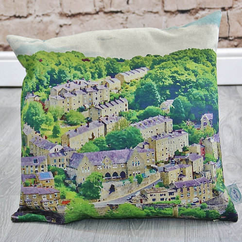 Birchcliffe Painted, Hebden Bridge - Printed cushion