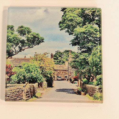 Glass Coaster,  Todmorden, Mankinholes Village