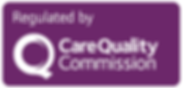 Regulated by CQC Logo - Solid Purple & W
