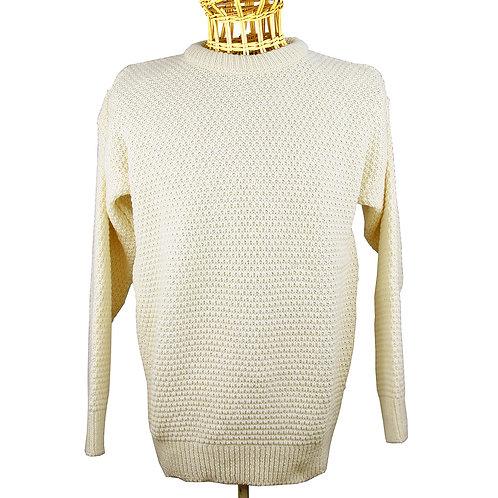 Honeycomb Knit 100% Wool - Cream