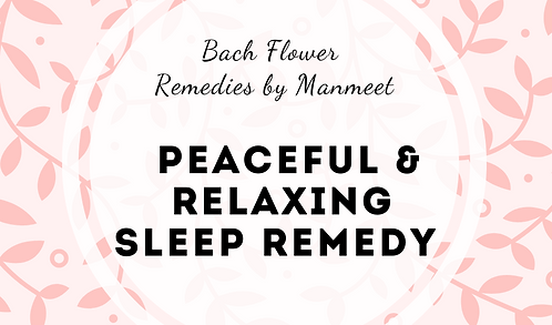 Peaceful and Relaxing Sleep Remedy