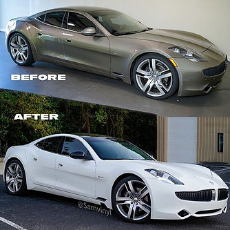 This car is sick! Fisker Karma wrapped i