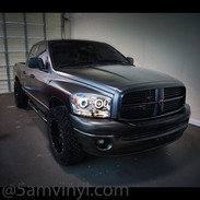 Satin black on this truck is pure magic