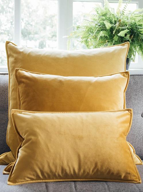 Cushion | Oblong Velvet | Mustard