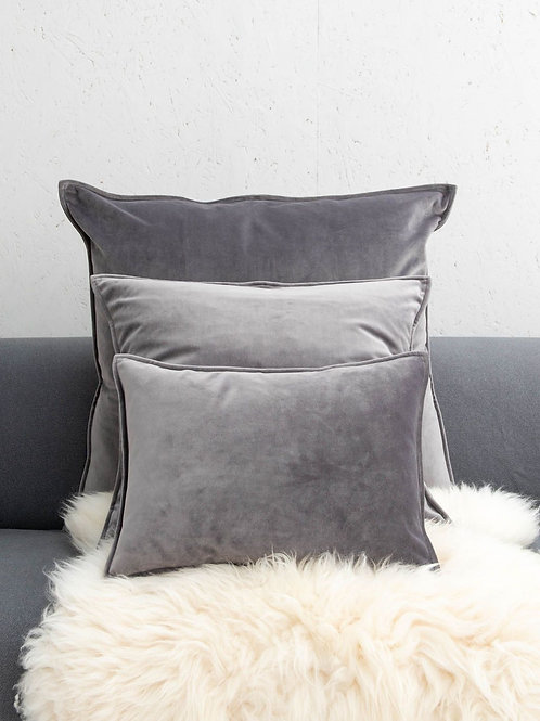 Cushion   Square Velvet   Charcoal