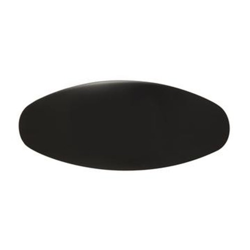 Jumbo Oval Clip in Black & Ivory